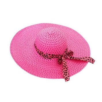 VONE059 Women Girl Summer Beach Hat Wide Brim Fold Casual Hat Cap Beach Sun Hat