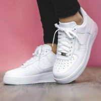 NIKE AIR FORCE 1 MID Classic Tide brand wild low-cut fashion casual sports shoes