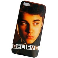 Huaqiang3c for Apple iPhone 5 5G Justin Bieber Belieber JB Design Hard Snap-on Crystal Case Cover Skin Protector