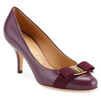 "Some of you have to get in on this: Salvatore Ferragamo ""Carla"" Leather Pump"