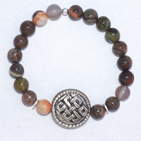 Tiffany Jazelle — Rainforest Jasper with Endless Knot