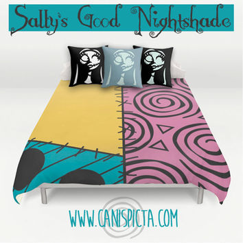 nightmare before christmas bedding duvet sally skellington bed set pillow cover bedroom decor decorative halloween burton - Nightmare Before Christmas Bedroom Decor