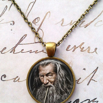 Lord of the Rings Necklace, The Hobbit, Thou Shall Not Pass, Gandalf, LOTR T727