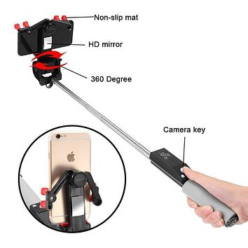 Smart Wireless Bluetooth Self Selfie Stick Electric 360 Degree Rotation Extendable Monopod Universal for Smartphone New Arrival