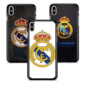 Real Madrid FC CLUB Hard Phone Case for Apple iPhone 5 5s 6 6s 7 8 x Plus