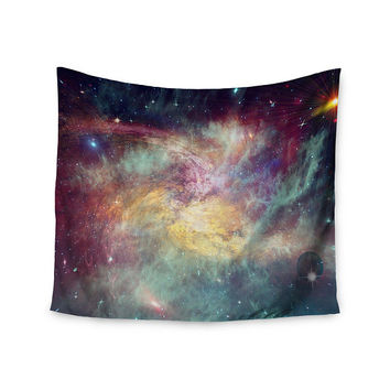 Painted Rainbow Galaxy Stars Custom Printed Unique Dorm Decor Apartment Decor Trendy Wall Art Printed Wall Hanging Wall Tapestry