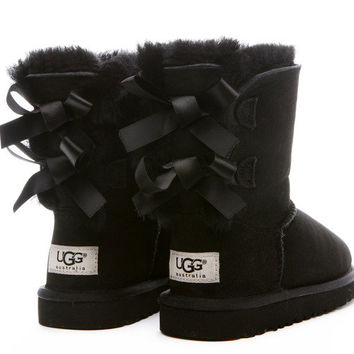 Ugg Boots Kids Bailey Bow Infant - Black