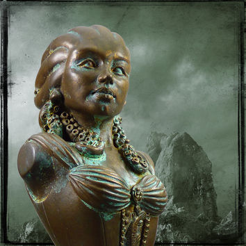 Cold Cast Bronze 'Lady of Innsmouth' Resin Statue