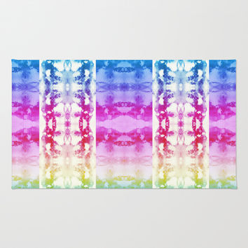 Tie Dye Rainbow Area & Throw Rug by Nina May