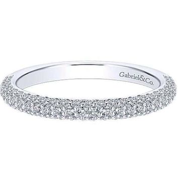 "Gabriel Amavida ""Lolita"" Pave Set Diamond Wedding Band"