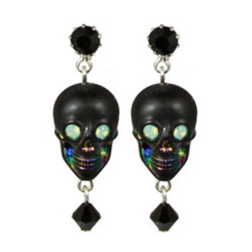 """ZOMBIE"" SKULL DROP EARRINGS - TARINA TARANTINO"