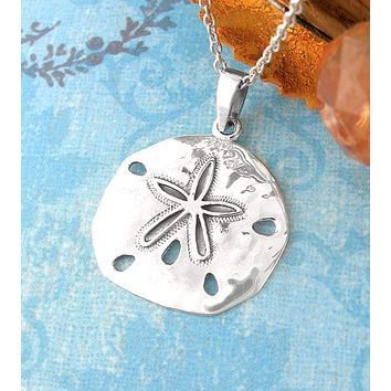 Hammered Sand Dollar Necklace