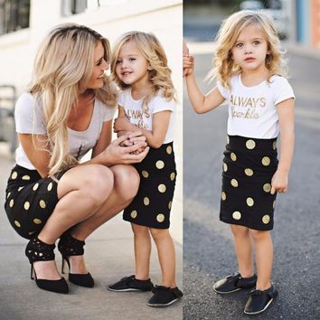 Mom and Baby Clothing Sets Mother Daughter Dresses