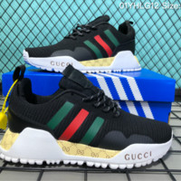 DCCK A013 Adidas AF2 4PK Preparation Of A Series Of Gucci Joint Causal Running Shoes Black Green Red Yellow