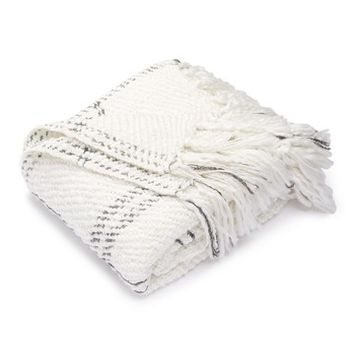 "Nordstrom Rack | Shimmer Plaid Throw - 50"" x 60"" 