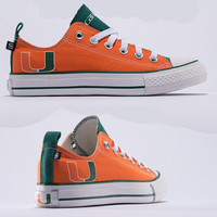 Miami Hurricanes Official NCAA Skicks Unisex Low Top Sneakers