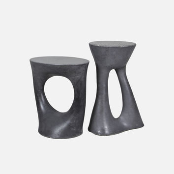 Pair of Kreten Side Tables - Charcoal