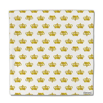"Gold Crowns AOP Micro Fleece 14""x14"" Pillow Sham All Over Print by TooLoud"