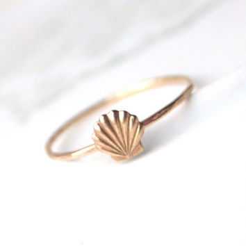 Little Shell Ring by proteales on Etsy