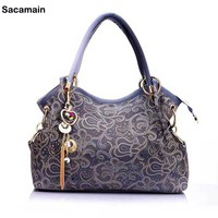 Paisley Vintage Bag Famous Designer Brand Bags Women Leather Handbags Gradient Tassel Bag Portable Bolsos mujer de marca famosa