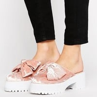 ASOS OCTOBER Chunky Bow Mules at asos.com