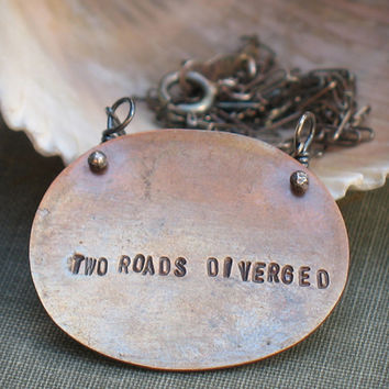 Two Roads Diverged Necklace