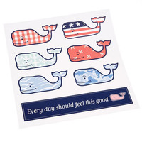Accessories: 6-Pack Assorted Whale Stickers - Vineyard Vines