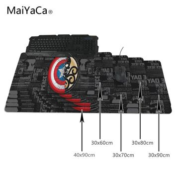 MaiYaCa Marvel Comics Gaming Mouse Pad 700*300*2mm Locking Edge Mouse Mat Speed version Table mat Thick 2mm Durable Beautiful