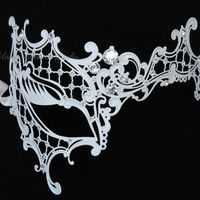 Masquerade Ball mask- Luxury Venetian Filigree Laser Cut Half face Phantom Mask for Women