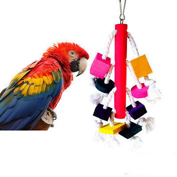 26cm Swing Bird Toy Parrot Rope Harness Cage Toys Parakeet Cockatiel Budgie TB