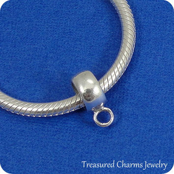 Sterling Silver Adapter Bead For European Charm Bracelets - Convert Any Traditional Charm to fit a European Bracelet