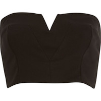 River Island Womens Black bandeau crop top