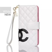 Chanel Popular Women Men Print iPhone Phone Cover Case For iphone 8 8plus iPhone6 6s 6plus 6s-plus 7 7plus White I