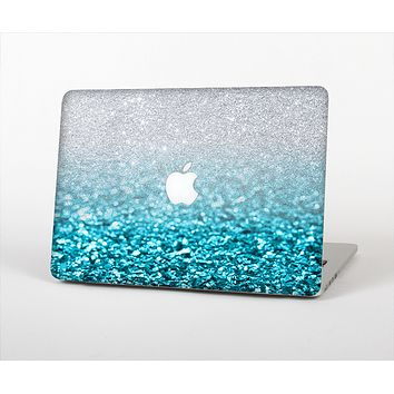 The Turquoise & Silver Glimmer Fade Skin Set for the Apple MacBook Pro 13""