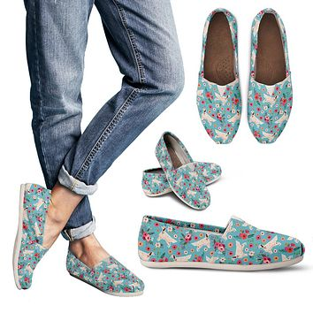 English Setter Flower Casual Shoes-Clearance