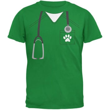 Halloween Vet Veterinarian Scrubs Costume Irish Green Youth T-Shirt