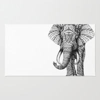 Ornate Elephant Rug by BioWorkZ