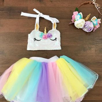 Boutique Kids Baby Girls Ballet Tulle Tutut Skirt Dancewear Dress Costume USA