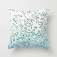Entangled Clouds Throw Pillow by Mat Miller