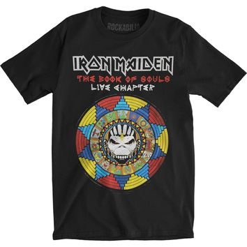Iron Maiden Men's  Book Of Souls Live Chapter Slim Fit T-shirt Black