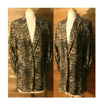 Women's Coat, leopard print coat, leopard print, animal print, blazer, jacket, ladies coat