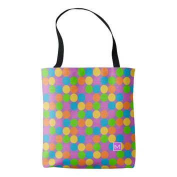 Monogram Retro MC Polka Tote Bag