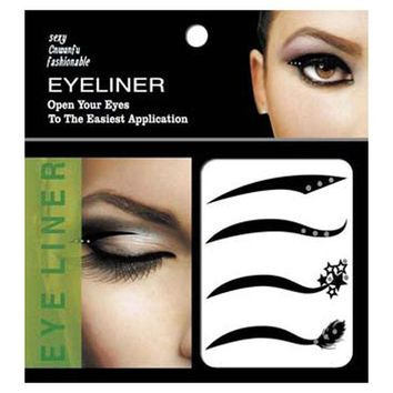 ONETOW New 4 Pair Black Eyes Sticker Cat Style Eyeliner Sexy Temporary Double Eyeshadow Eyelid Tape Tattoo Eye Makeup Tools Cosmetics
