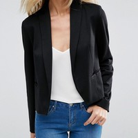 ASOS Ponte Jacket with Shawl Collar Detail at asos.com