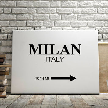 "CUSTOMIZE PRINT Prada Marfa ""MILAN City"" Print Typography Art Print Gift for Him Fashion Art Art Prada Marfa Sign Like in Gossip Girl Milano"