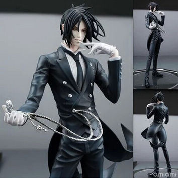 NEW hot 20cm Black Butler Sebastian Michaelis action figure toys collection christmas toy doll