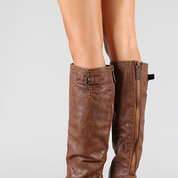 Breckelle Outlaw-11 Buckle Riding Knee High Boot