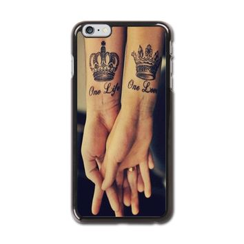 Love Qutoe Series One Life One Love Forever Tattoo iPhone 6 Plus Hard Case (5.5 inch) - iPhone 6 Plus Hard Case (5.5 inch)