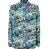 Indie Designs Saint Laurent Inspired Surf Print Hawaiian Shirt