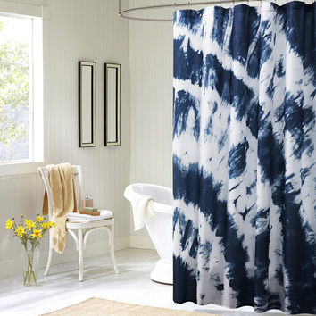 Printed Blue Mediterranean Style Elegant Shower Curtains Bathroom Curtain for Bath Polyester Bathroom Products Free Shipping